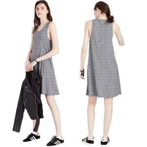 Madewell Highpoint Tank Striped Dress Gray Black